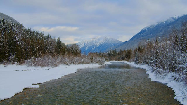 Winter Beauty of Canadian Nature. Part 3 - Nature Relax Video in 4K HDR