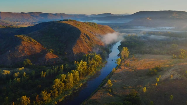 Look from Heaven South Ural, Russia - Nature Relax Video