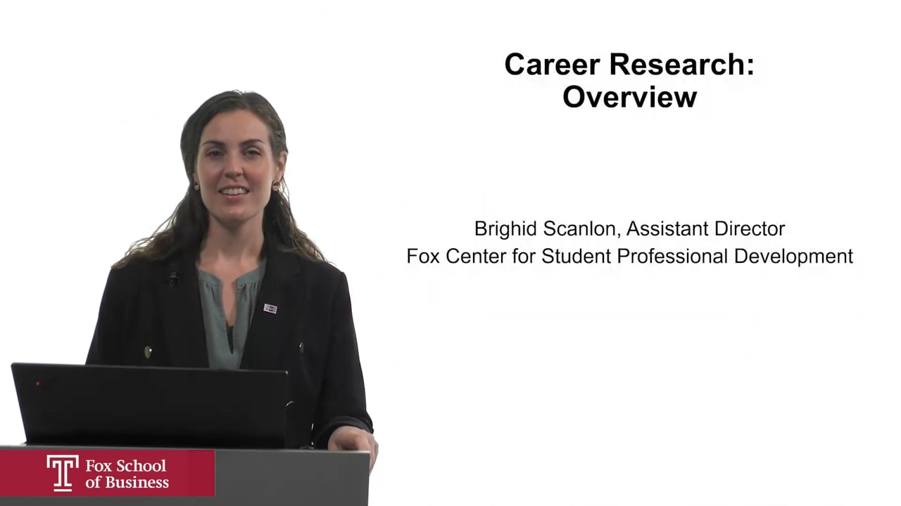 61971Career Research: Overview