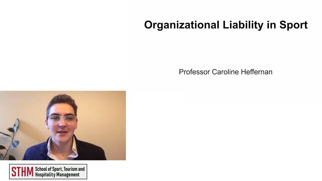 61972Organizational Liability in Sport