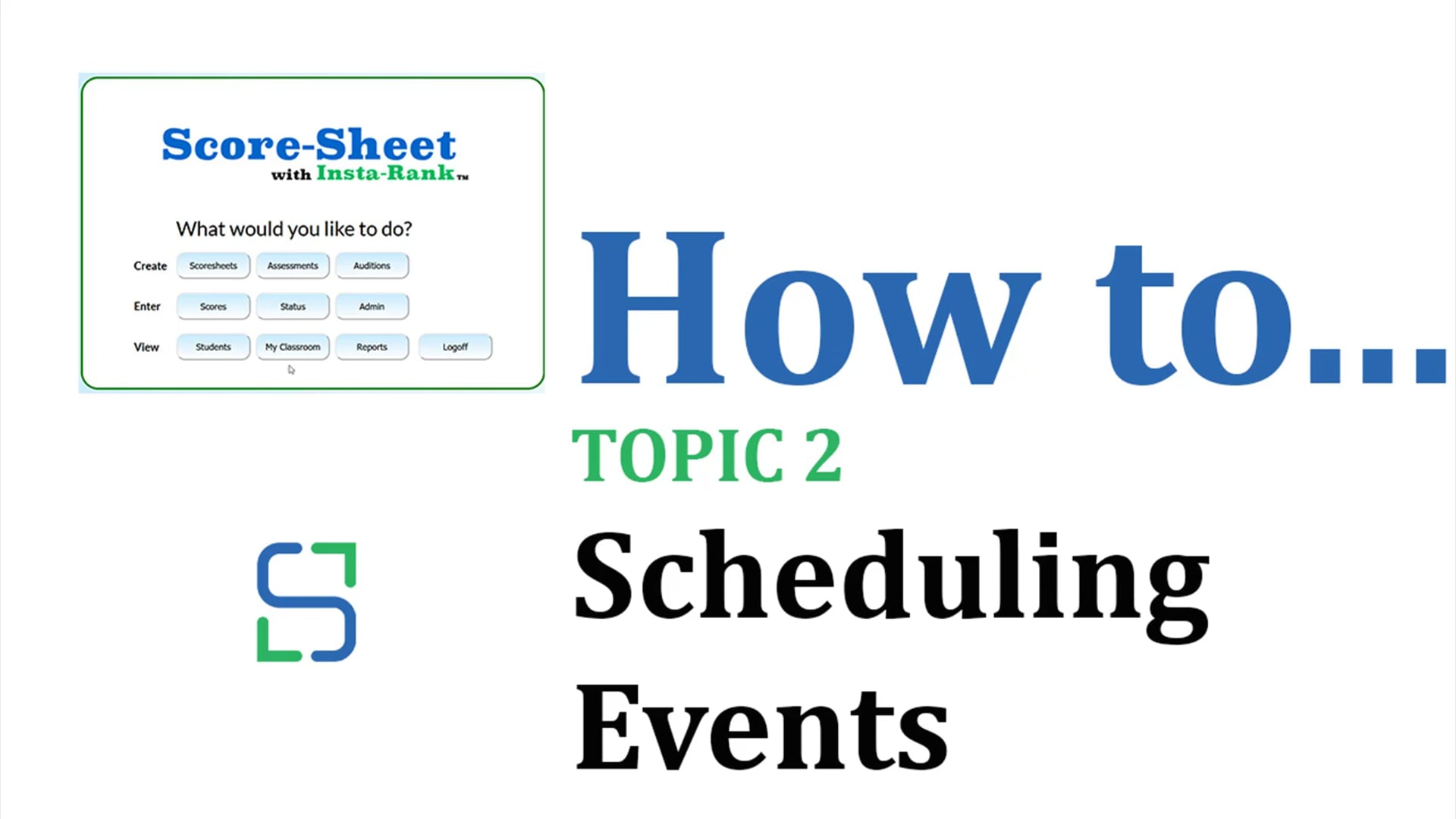 8 - SCHEDULING EVENTS