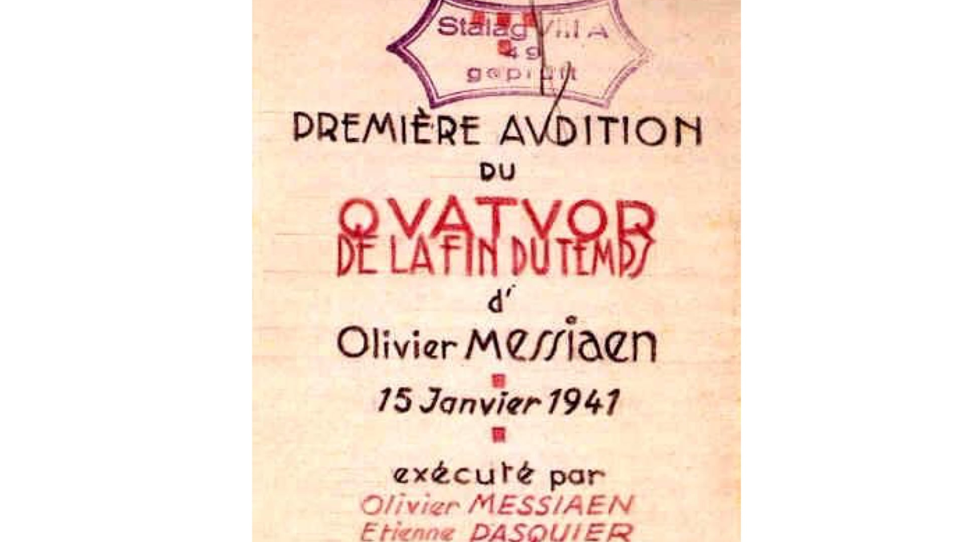 Olivier Messiaen - Quartet for the End of Time III. Abîme des Oiseaux