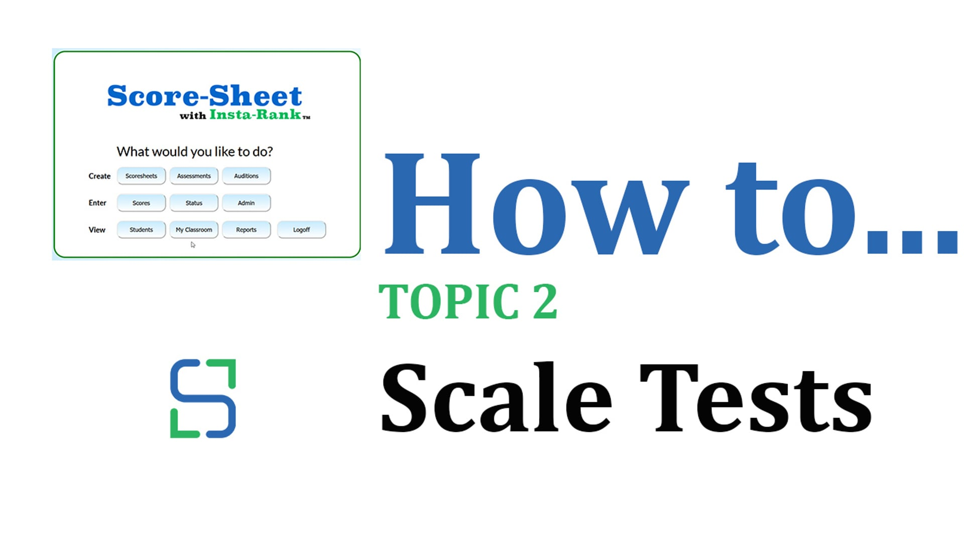 10 - SCALE TESTS