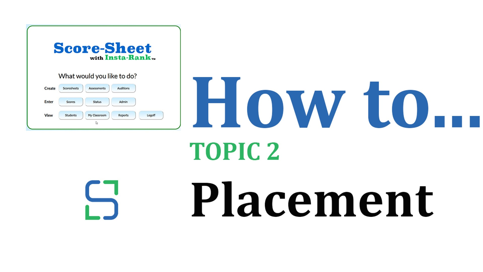 13 - PLACEMENT
