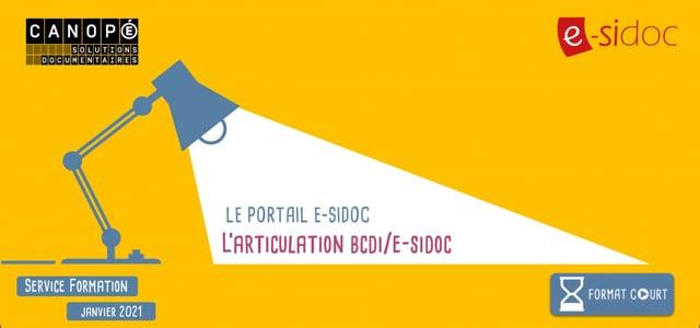 L'articulation BCDI/e-sidoc