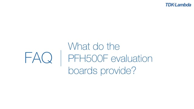 What do PFH500F AC-DC Power Module evaluation boards provide?