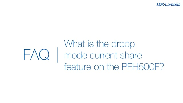 What is the droop mode current share feature on the PFH500F 500W AC-DC Power Module?