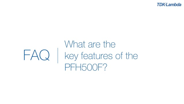 What re the key features of the PFH500F 500W AC-DC Power Module?