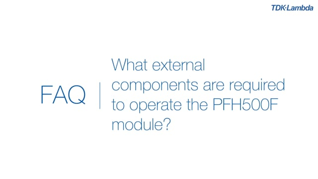 What external components are required to operate the PFH500F 500W AC-DC Power Module