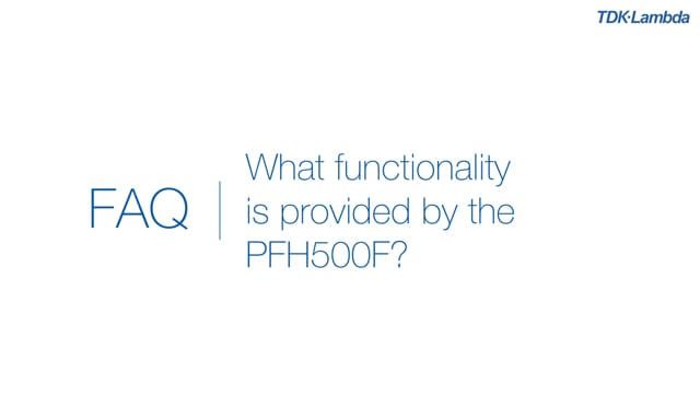 What functionality is provided by the PFH500F 500W AC-DC Power Module?