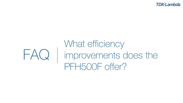 What efficiency improvements does the PFH500F AC-DC Power Module offer?