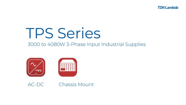 TPS3000 3000W 3-Phase Input Industrial Power Supplies Video