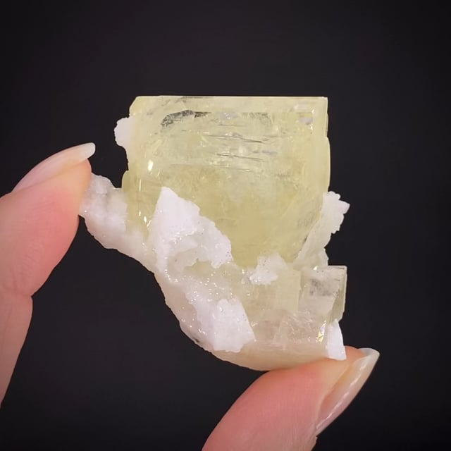 Amblygonite (twinned) with Albite