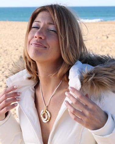 Vídeo: Collar Madre perla blanca Plata de Ley 925 Chapado en oro