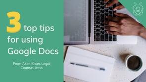 Google Docs: A few productive tips