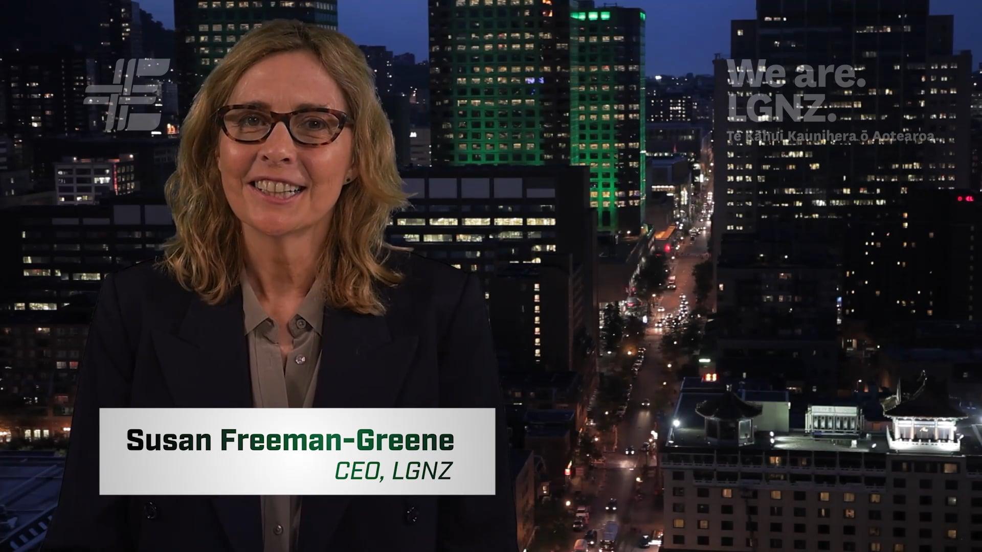 Susan Freeman-Greene, CEO, LGNZ