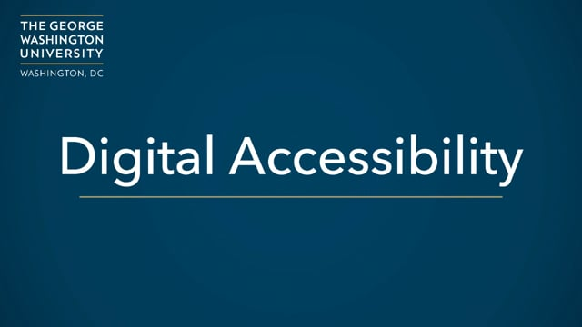 Digital Accessibility Overview