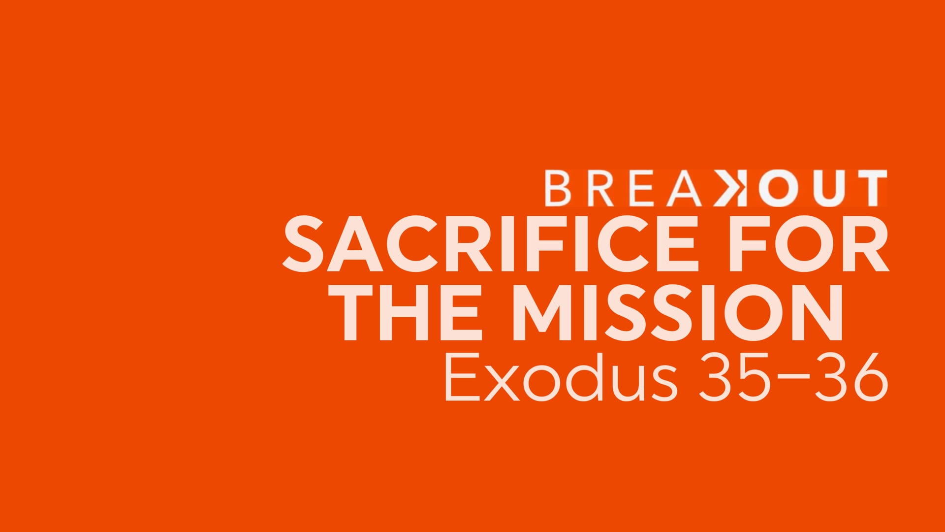 Sacrifice For The Mission - January 24, 2021