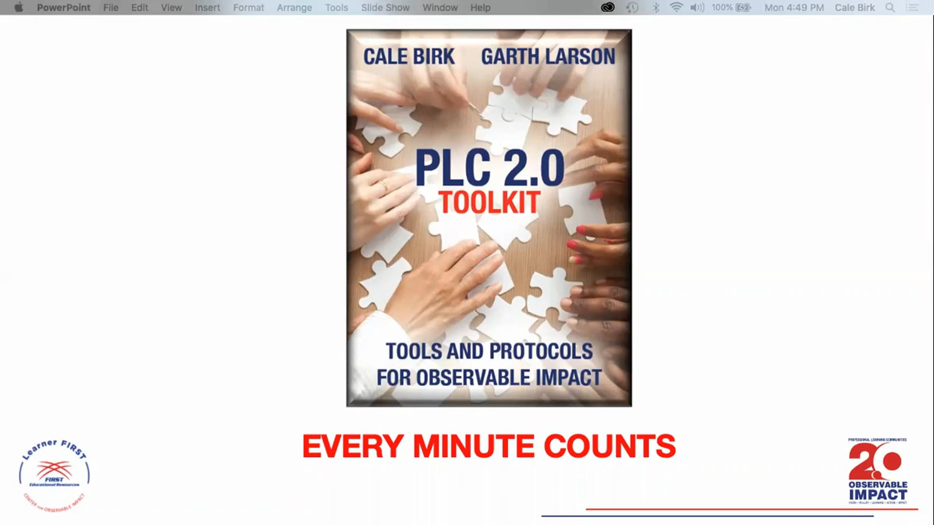 PLC 2.0 - Every Minute Counts