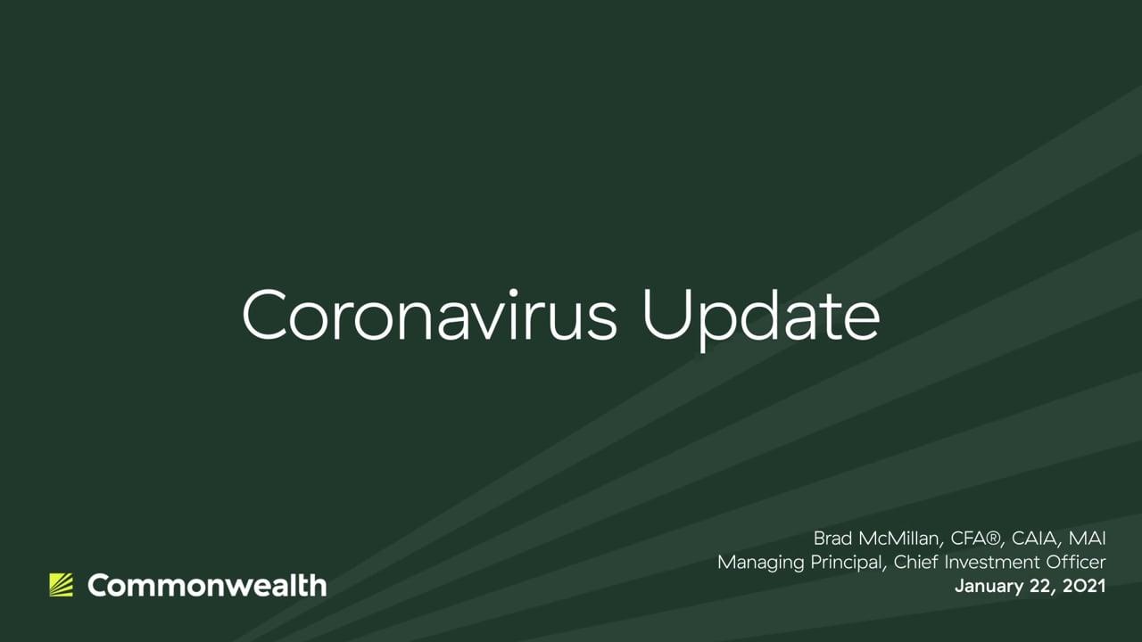 Coronavirus Update from Commonwealth CIO Brad McMillan, January 22, 2021
