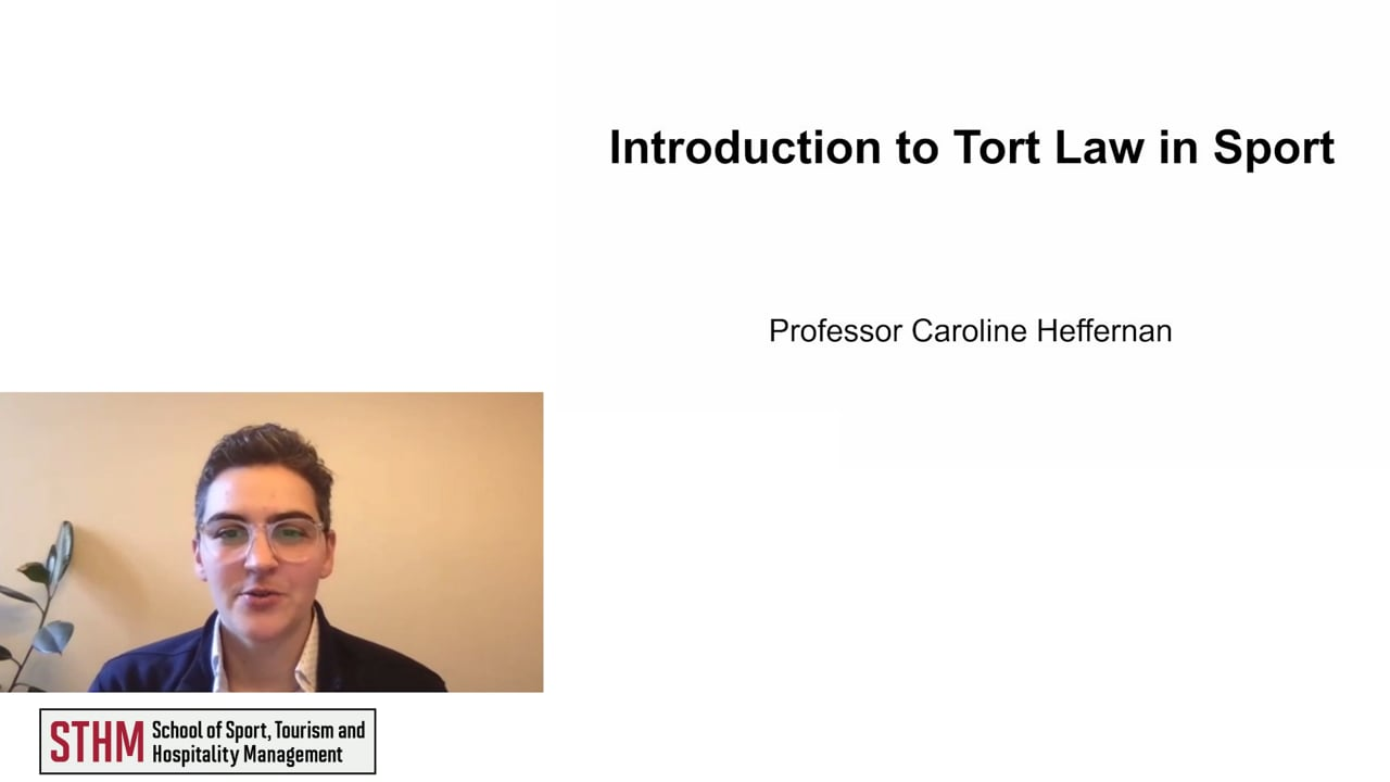 61976Introduction to Tort Law in Sport