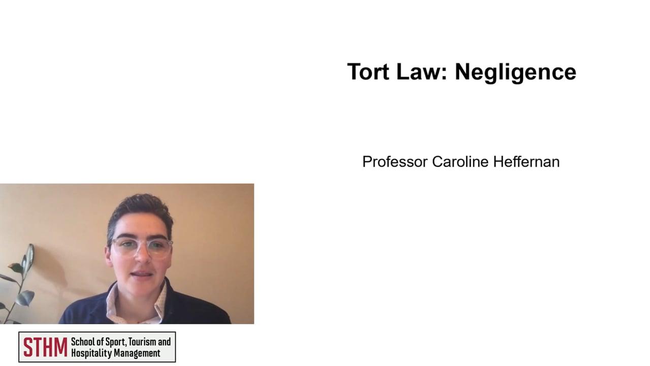 61977Tort Law: Negligence