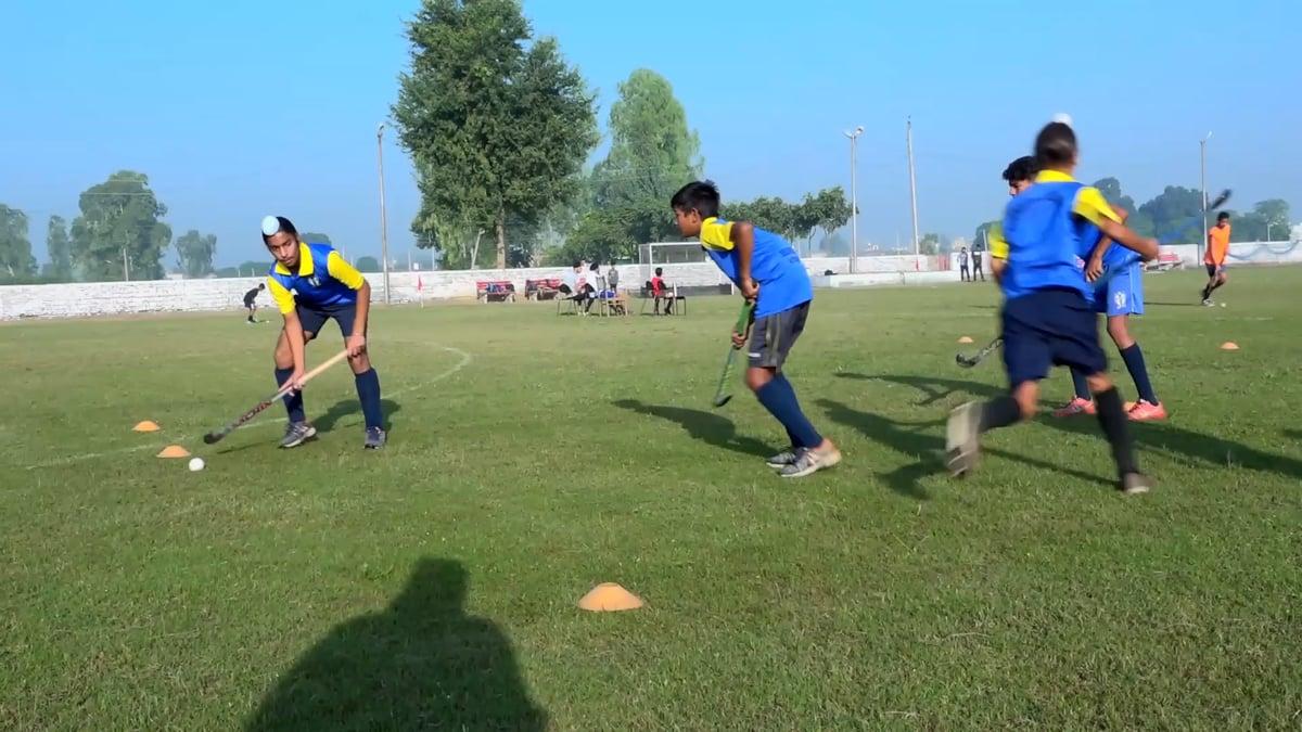 Three player passing drill