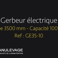 Gerbeur électrique levée 3500 mm - Manulevage