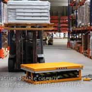 Table élévatrice électrique doubles ciseaux 1000 kg -Manulevage