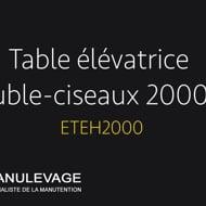 table élévatrice double ciseaux 2000 kg