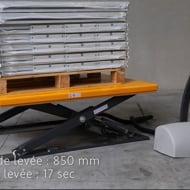 Table élévatrice électrique en E 1000 kg - Manulevage