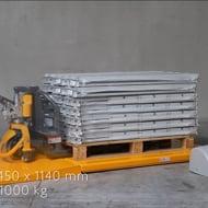 Vidéo: Table Elévatrice Electrique Extraplate 1000 kg Plateau 1450x1140 mm 380V