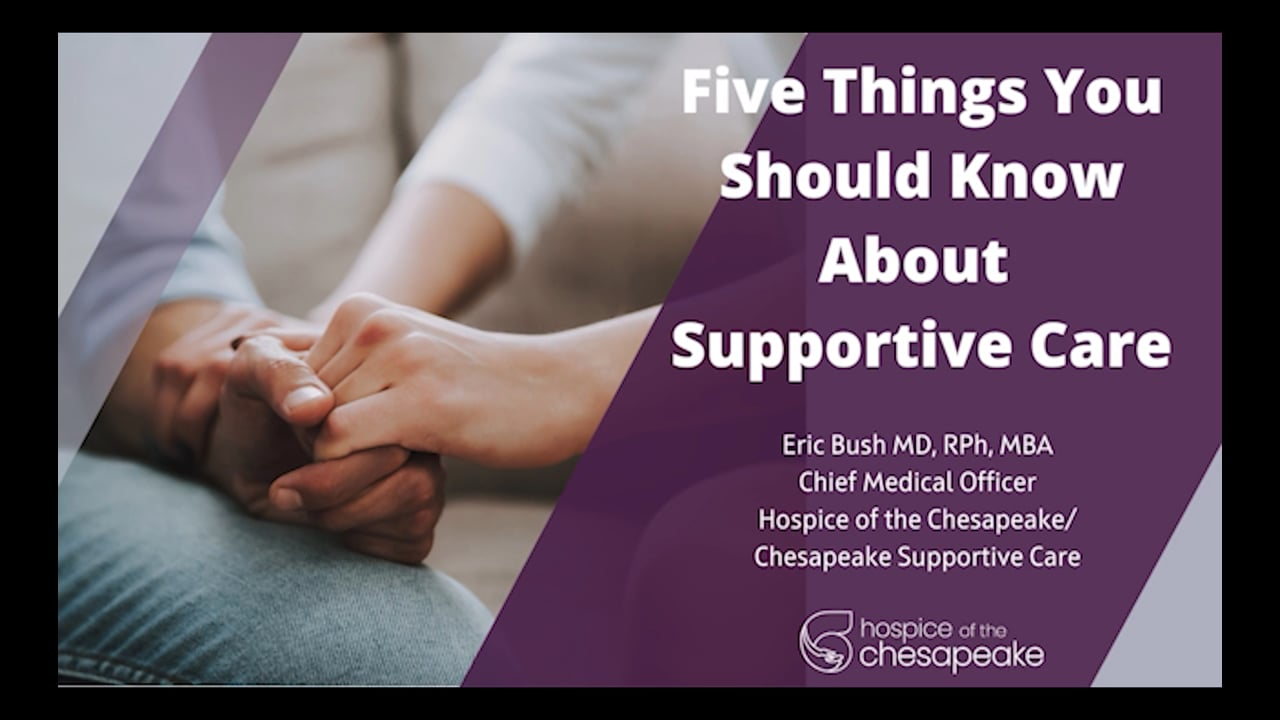 Five Things You Should Know About Supportive Care