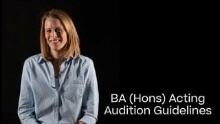 Acting Portfolio Guide 2021