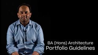 Architecture Portfolio Guide 2021