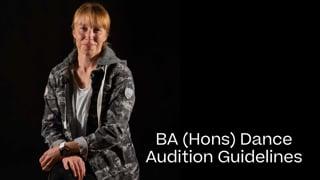 Dance Portfolio Guide 2021