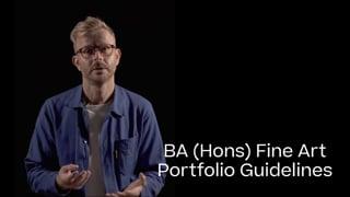 Fine Art Portfolio Guide 2021