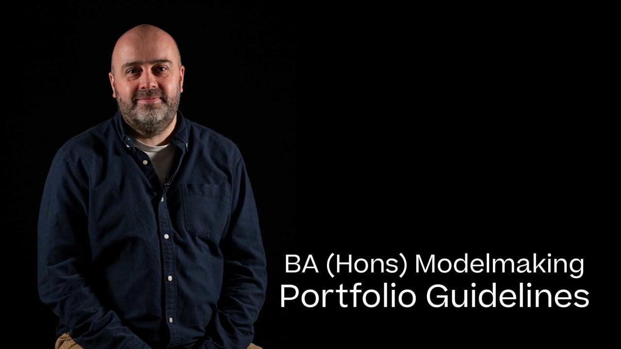 Model Making Portfolio Guide 2021