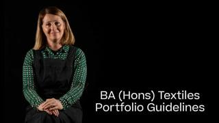 Textiles Portfolio Guide 2021