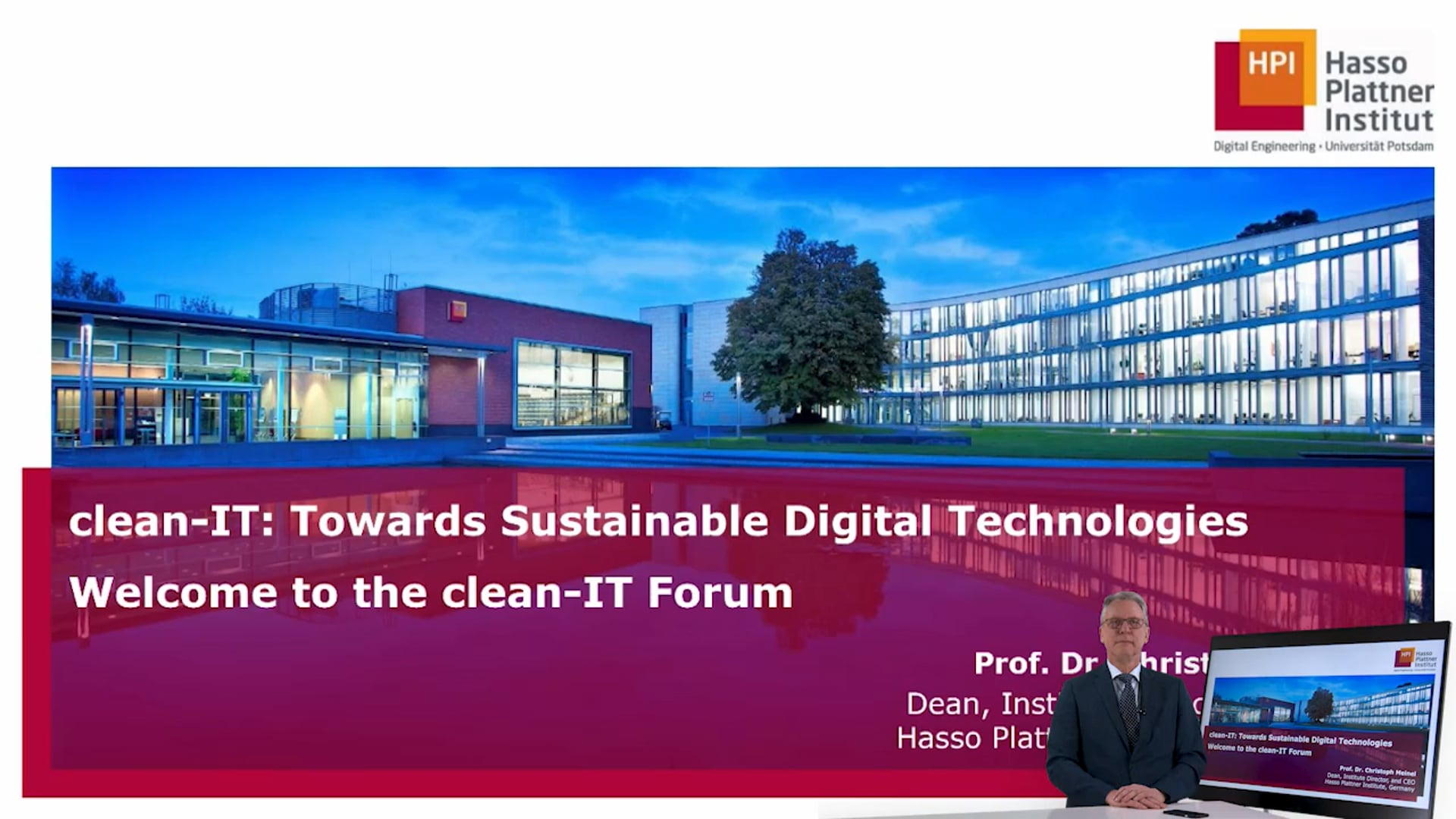 Christoph Meinel (HPI) - Environmental Impact of Digitalization