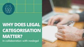 Why Legal Categorisation Matters