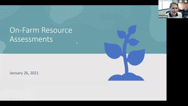 On-Farm Resource Assesments