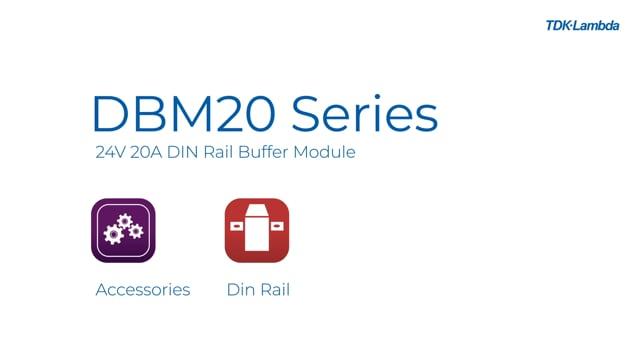 DBM20 24Vdc 20A DIN rail mount buffer module