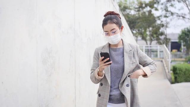 woman, mask, healthcare