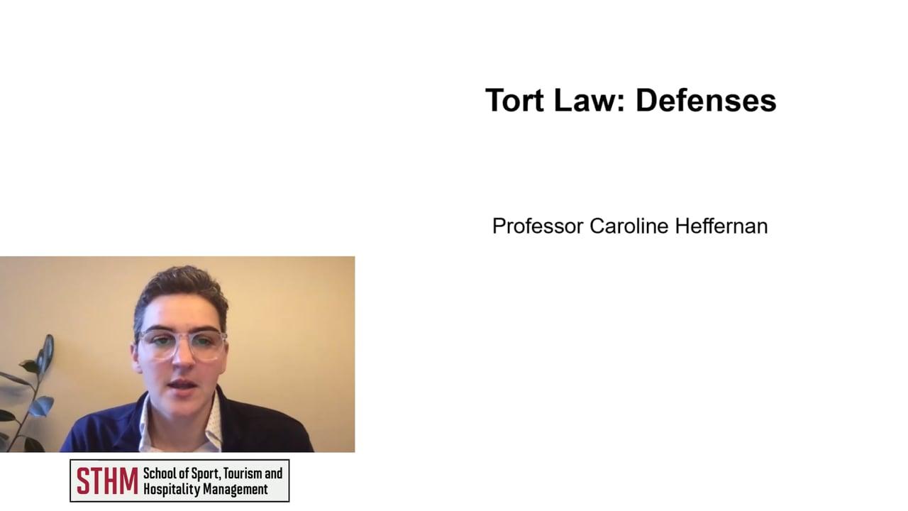 61983Tort Law: Defenses