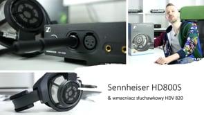 Hi-endowe słuchawki Sennheiser HD800S do masteringu