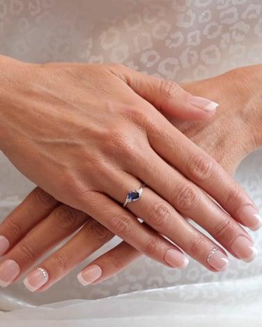 Video: Anelli Zaffiro diamanti Argento 925