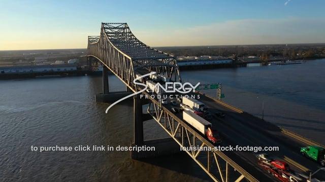 2534 Aerial view Baton Rouge bridge interstate 10