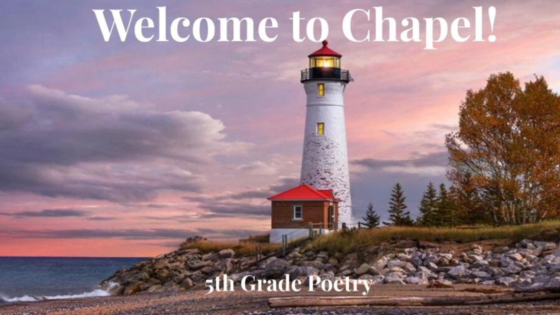 2021_02_02 Chapel 5th Grade Poetry