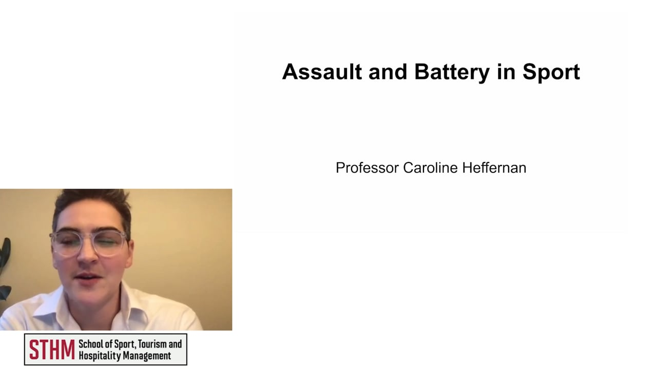 61989Assault and Battery in Sport